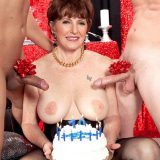 Bea's 70th birthday anal blast! This special video opens with Bea Cummins getting what she deserves.  No. We're not talking about two young, hard cocks in her ass. That comes later.  We're talking about a birthday celebration befitting the hottest, mos...