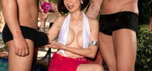 Hot for cocks in her ass Kim Anh was born in Thailand. She used to be a tour guide and trekked the Himalayas. Very adventurous. But we're willing to bet that more women have trekked the Himalayas than have gotten ass-fucked by two men on-camera. That's...