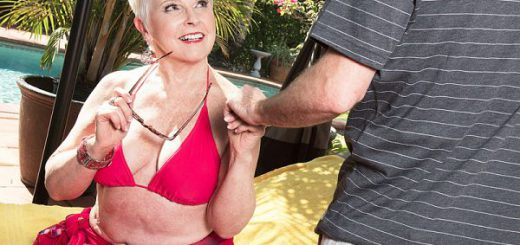"The bikini GILF and the 34-year-old ""I always focus totally on my man, what makes him feel good, proud and sexy"" said 66-year-old golden girl Jewel, who's back for her 10th fuck at 60PlusMILFs.com. ""I make sure he's aware of the same to make me feel th..."