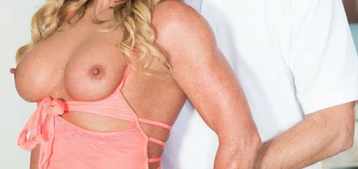 Missy Blewitt, a 50-year-old wife, mother and grandmother from Detroit, Michigan, makes her 50PlusMILFs.com debut by sneaking around behind her hubby's back and fucking our man Jimmy. She's wearing sexy lingerie and is ready for action. She sucks Jimm...