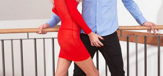 In her second scene, beautiful, long-legged blonde Alexis Starr takes on the cock of a 26-year-old. Alexis is 46, so he's young enough to be her son. He isn't, of course. But Alexis, who's divorced, is a mother and a grandmother.  It's really unbeliev...