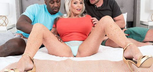 Double the penetration, double the fun for Sally What does 63-year-old wife, mother and grandmother Sally D'Angelo do in her first DP scene at 60PlusMILFs.com...besides getting DP'd, of course?  She seduces two guys whose ages, combined, don't equal he...