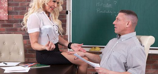 Hot for teacher Lady S., a 64-year-old former teacher from the UK, says she wasn't a naughty teacher when she was working, but she's definitely a naughty teacher in this scene. She says that when she was teaching, she never fucked one of her students o...